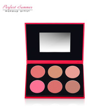 Perfect Summer 6 Colors New Makeup Blusher Palette Face Powder Easy to Wear Natural Blusher High Quality Fashion Blusher