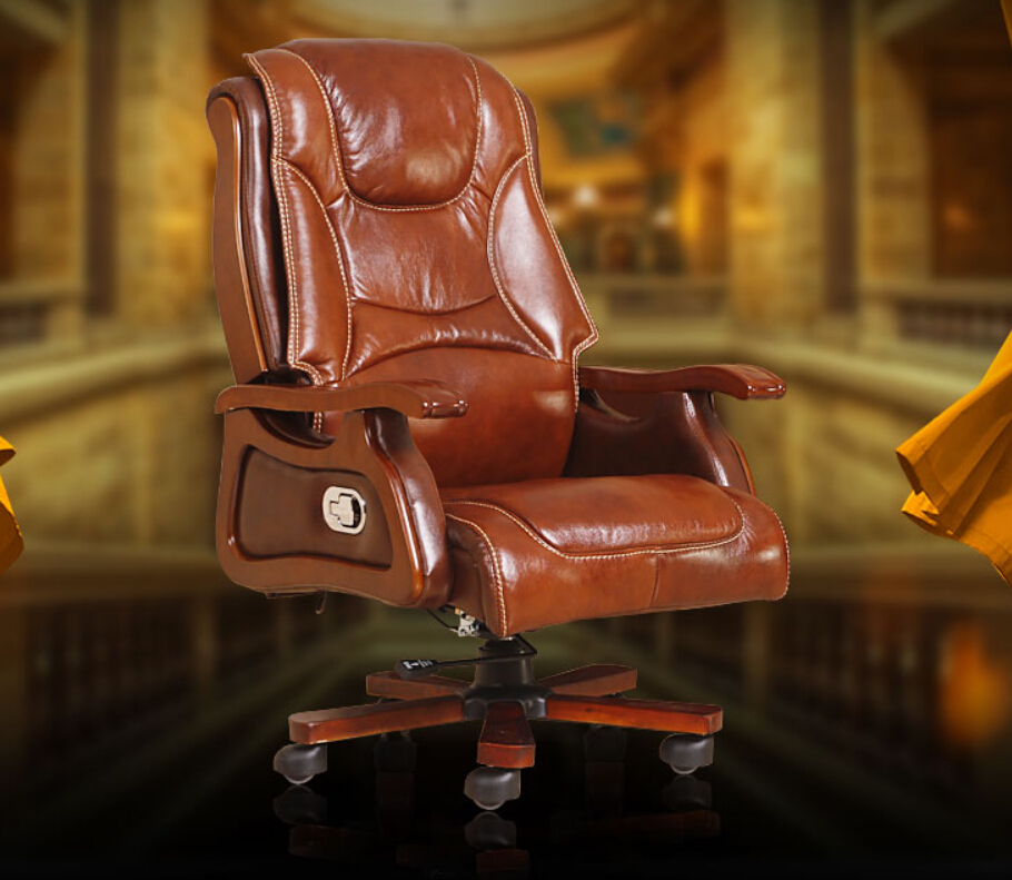 Boss Chair. Leather Reclining Massage Chair .wood Chair