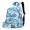 2017 Women Backpack for School Teenagers Girls Vintage Stylish School Bag Ladies Backpack Female Purple Back Pack High Quality