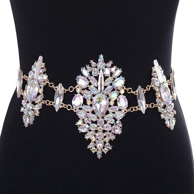 Imixlot Jewelry Luxury Sexy Statement Belt Body Chain DIY Handmade Gem Crystal  Waist Chain Body Jewelry d7a96a2dbfa0