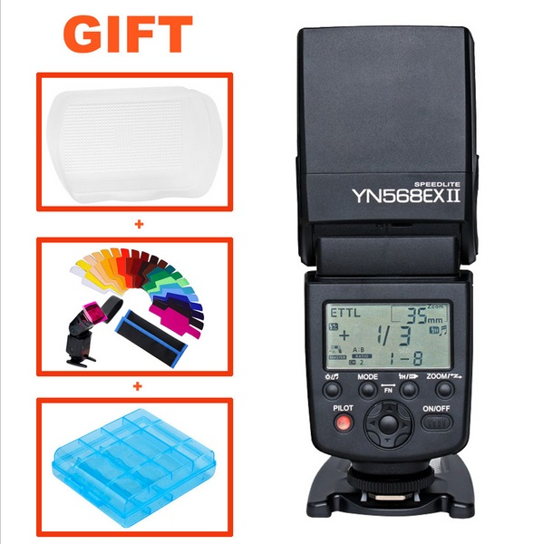 Yongnuo YN-568EX II YN568EX II Wireless TTL HSS Flash Speedlite For Canon 6d 650d 60d 5d mark iii 1100d 70d VS Triopo TR-586EX yongnuo 3x yn 600ex rt ii 2 4g wireless hss 1 8000s master flash speedlite yn e3 rt flash trigger for canon eos camera 5d 6d