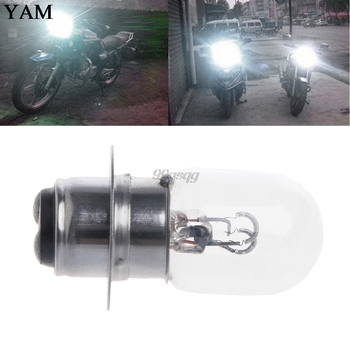 T19 P15D-25-1 DC 12V 35W White Headlight Double Filament Bulb For Motorcycle New Drop shipping image