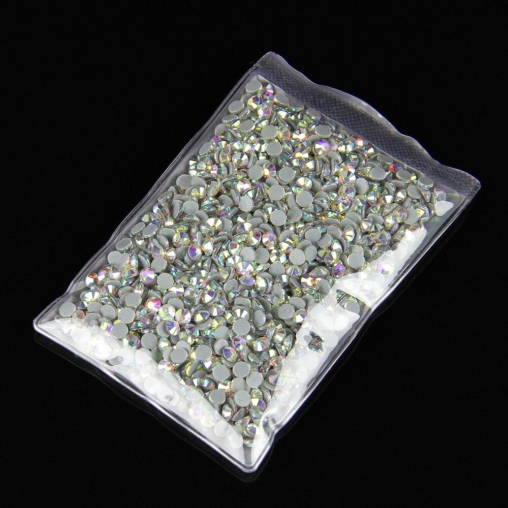 20 worków/partia AB kolor kryształ Hot Fix dżetów SS20 DMC poprawce dżetów kryształy termoprzylepne do naprasowania do szycia odzieży kamienie w Kryształy górskie od Dom i ogród na  Grupa 1