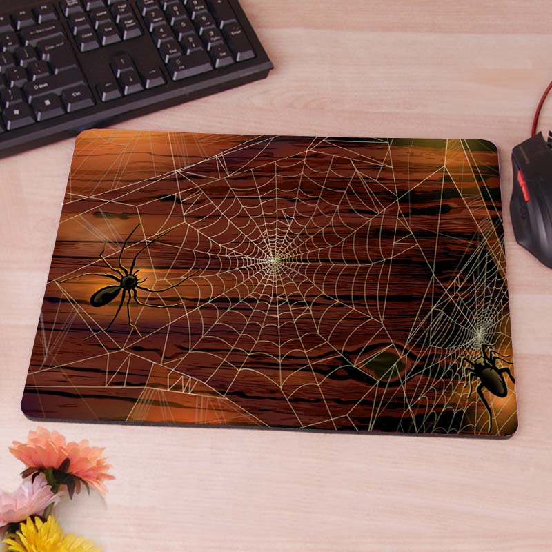 MaiYaCa Spiders on the Web Silicon Anti-slip Mouse Mats Computer Laptop Notbook Gaming Mouse Mat