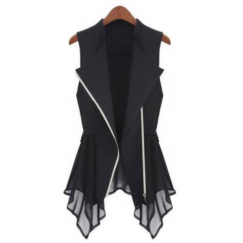 MWSFH Plus Size Long Vest Womens Spring Summer Outwear New Women Vest Coat Europe tanpa lengan Panjang Cardigan Top Jaket Pakaian Luar
