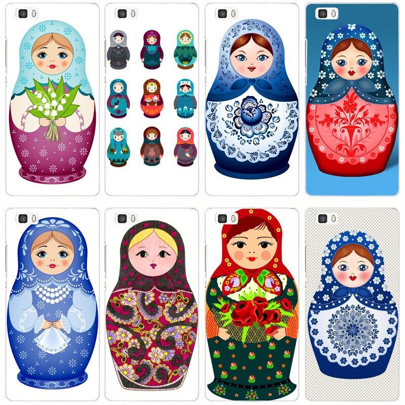 82f русская кукла Красочные Прозрачный жесткий тонкой кожи, чехол для Huawei P 6 7 8 9 lite плюс Honor 6 7 8 4c 4x G7