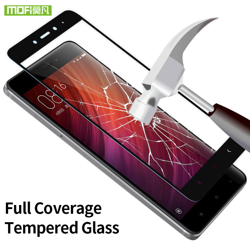 Xiaomi Redmi Note 4X glass screen protector tempered 2.5D full cover shield film Mofi Xiaomi Redmi Note 4X pro glass protective