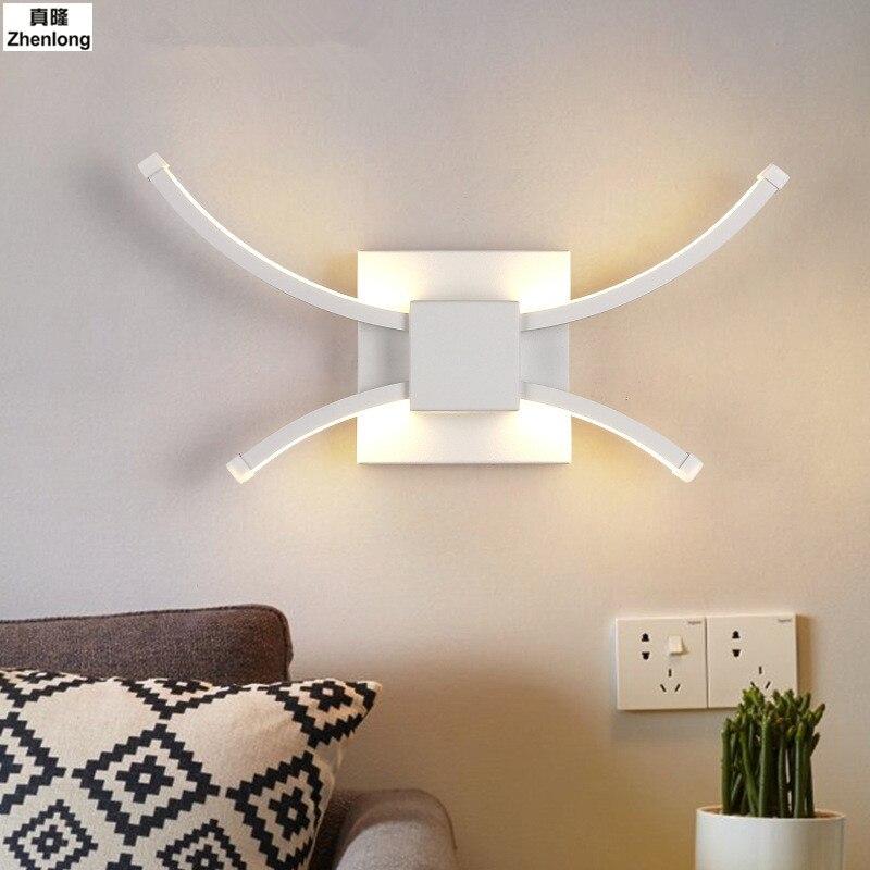 Creative mur LED lumière RGB applique luminaire moderne luminaire éclairage lumineux applique 8 W 12 W 15 W AC85-265V décoration murale d'intérieur