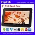 9 дюймов AllWinner A33 Bluetooth Quad Core Wifi 512 МБ 8 ГБ android 4.4.2 Tablet PC