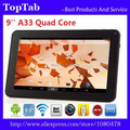 9 polegada AllWinner A33 Quad Core Do Bluetooth Wifi 512 MB 8 GB android 4.4.2 Tablet PC