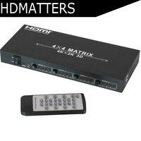 4 К Матричный Коммутатор HDMI Сплиттер 4 в 4 из HDMI1.4V 3D, 4 К X 2 К/30 Гц с EDID и RS232