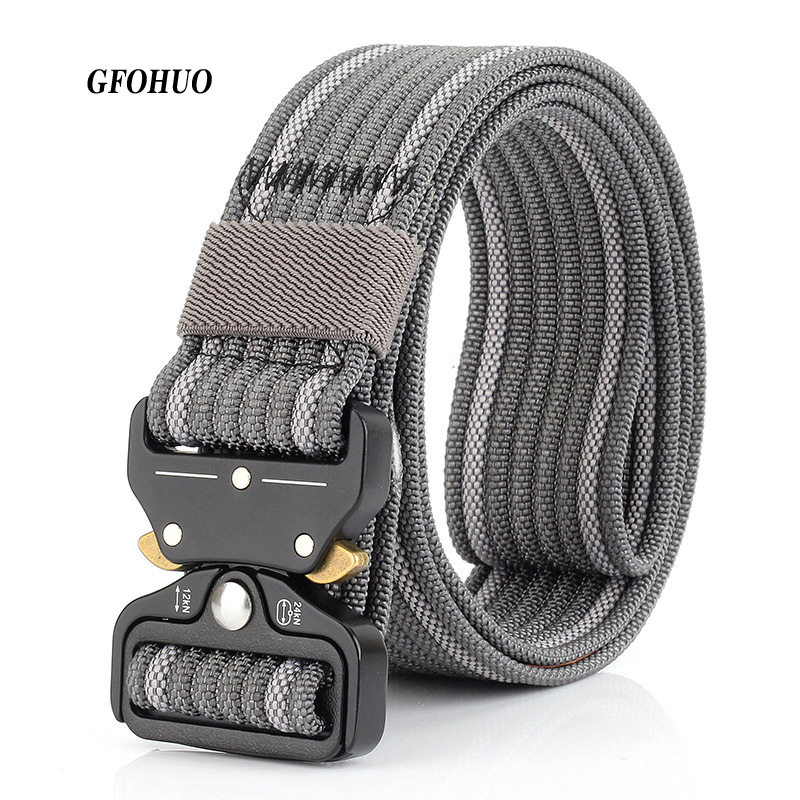Gfohuo New Cobra Buckle Tactical Belt 3.7cm High Quality Nylon Casual Canvas Belt For Men And Women Military Training Belt Drip-Dry Apparel Accessories