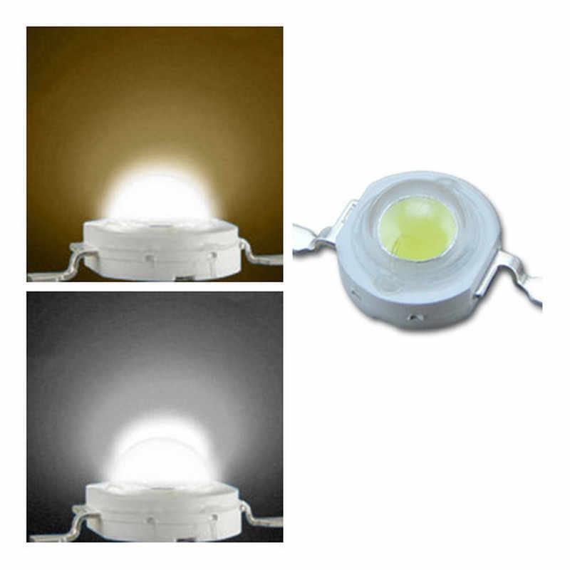 1 Uds. De vatios reales CREE 1W 3W de alta potencia LED Bombilla diodos SMD 110-120LM LEDs Chip para 3 W-18 W Luz de punto abajo