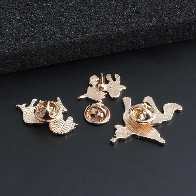 動物エナメルピンクマ馬アルパカ鹿パンダ動物ブローチファッションジュエリーコートラペルピンボタン女性バッジ子ギフト