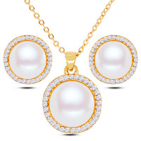 Fashion Jewelry Necklace Earrings Sets Pearl Earrings Necklace Sets Valentine S Day Gifts