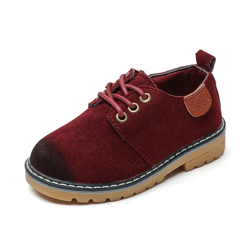 Leather kids shoes 2018 autumn new fashion retro wear casual sports students leather girls shoes baby boy shoes moccasin childre