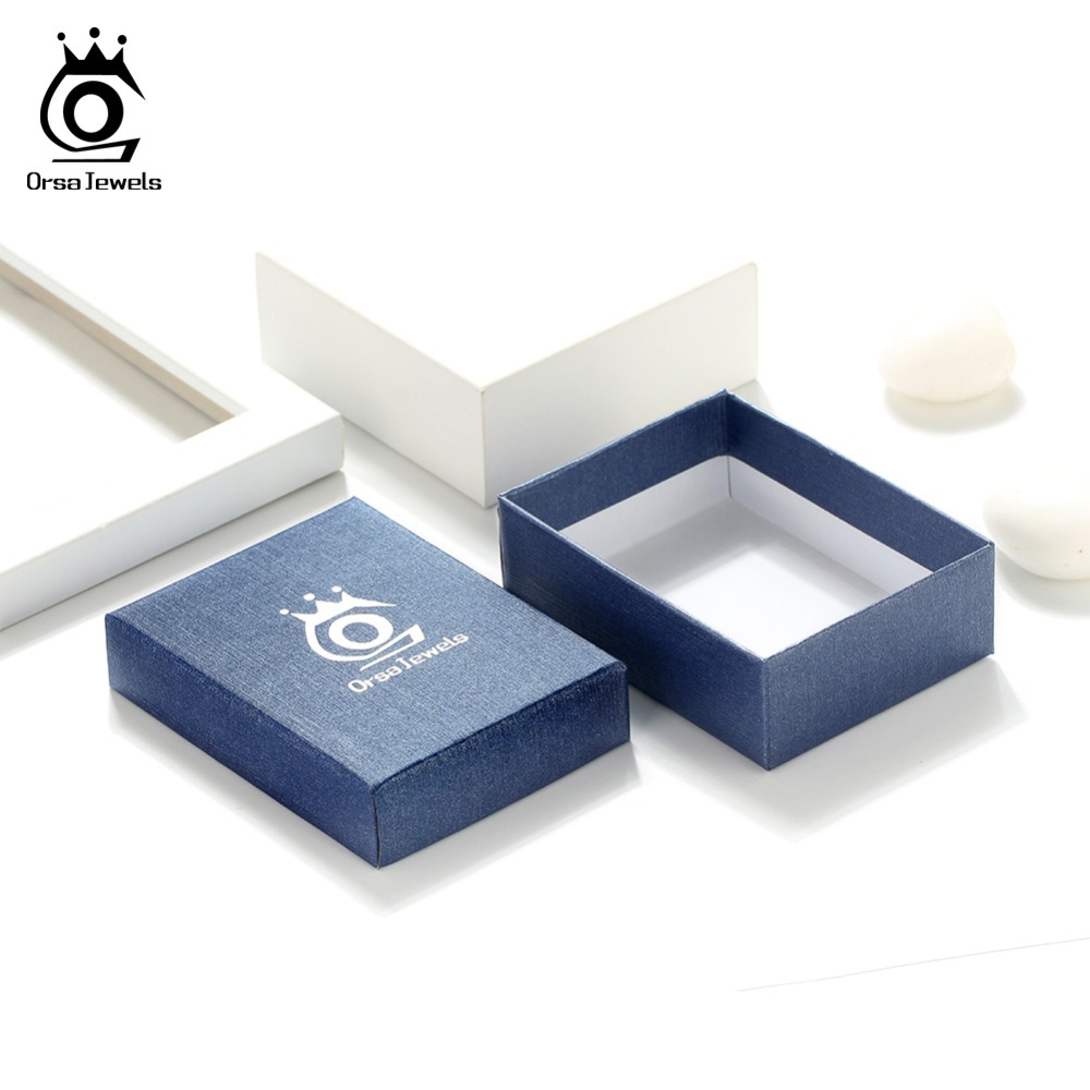 ORSA JEWELS Box Carrying Jewelry Gift Packing Blue Boxes Gift For Jewelry Packing Wedding Party Wholesale Package BZH14