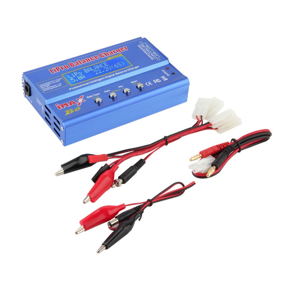 1Set iMAX B6 Lipo NiMh Li-ion Ni-Cd RC Battery Balance Digital Charger Discharger New Hot! ocday 1set imax b6 lipo nimh li ion ni cd rc battery balance digital charger discharger new sale