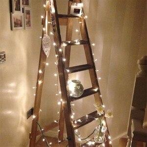 Image 1 - 10 m 100 led 문자열 갈 랜드 크리스마스 ac110v ac220v 나무 요정 빛 luce 방수 홈 가든 파티 야외 휴일 장식