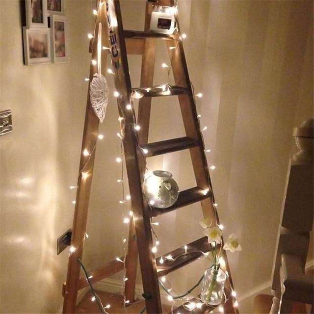 10 m 100 led 문자열 갈 랜드 크리스마스 ac110v ac220v 나무 요정 빛 luce 방수 홈 가든 파티 야외 휴일 장식