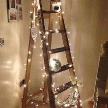 Cordão de luz de led para natal, 10m 100 guirlanda de natal ac110v ac220v, luz de fadas na árvore, à prova d água, para jardim e festa, decoração de festas, para áreas externas