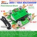 ATORCH preciso medidor de energía de corriente de voltaje de alimentación DC 300 V/100A amperímetro del voltímetro verde Fondo sobrecarga función de alarma interior