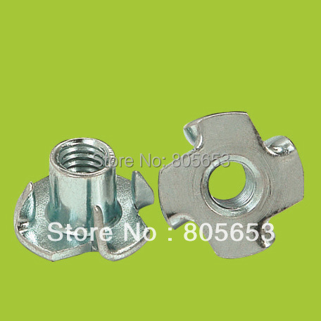 High quality  4-prong stainless steel m8 tee nut (N1716)