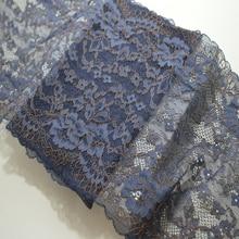 1 ярд 22 см в ширину фиолетовый коричневый дамасский стрейч кружевной отделкой эластичный кружевной свадебный пояс головной убор одежда пружинящая кружевная ткань