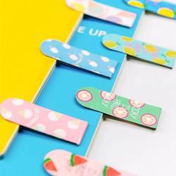 Kawaii Милые Фрукты мороженое магнитные закладки книги пометка страницы Канцелярские школа канцелярских товаров разные цвета