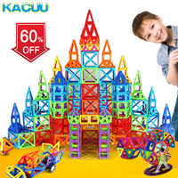 KACUU Magnetic Blocks Standard Size DIY Magnetic blocks Magnet Pulling Magnetic Building Blocks Assembled Toys For Children