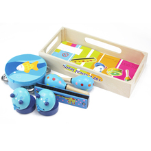 Kids Wooden Musical Toys Baby Child Musical Instruments Set Brand Gifts children's early educational classic music toys 11-228
