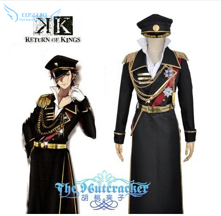 High Quality Anime K Second Season Suoh Mikoto Uniform Cosplay Costume , Perfect Custom For You !