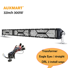 "Auxxmart Transformers 5D LED Light Bar Straight 32"" 300W Combo Beam Bar Light +DRL 4×4 4WD Off-Road 12v 24v ATV SUV UTV truck"