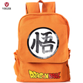 VIIGER Dragon Ball Z Canvas Travel Backpack Printing Backpacks for Teenage Girls Boys Kids Children Laptop School Bags Orange