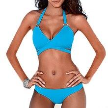 Women Push Up Bikini Bandage Criss Cross Wrap