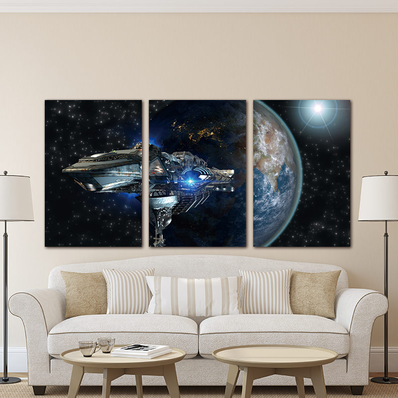 Modern Wall Art Canvas Star Wars Movie Poster Print Descorative Pictures Painting For Home Decor Livingroom Decor image