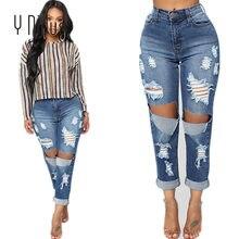 Y Nidus Jeans Femme Avec Midi Taille Femelle Avant Big Trous Denim Pantalon  Déchiré Lavé Petit Ami Maigre Jean Femme S-2XL 507773b82717