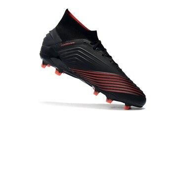 269beba5 Sufei hombres botas de fútbol tobillo alto Original zapatos de fútbol FG  depredador 19 + formación tacos chuteira futebol venta al por mayor