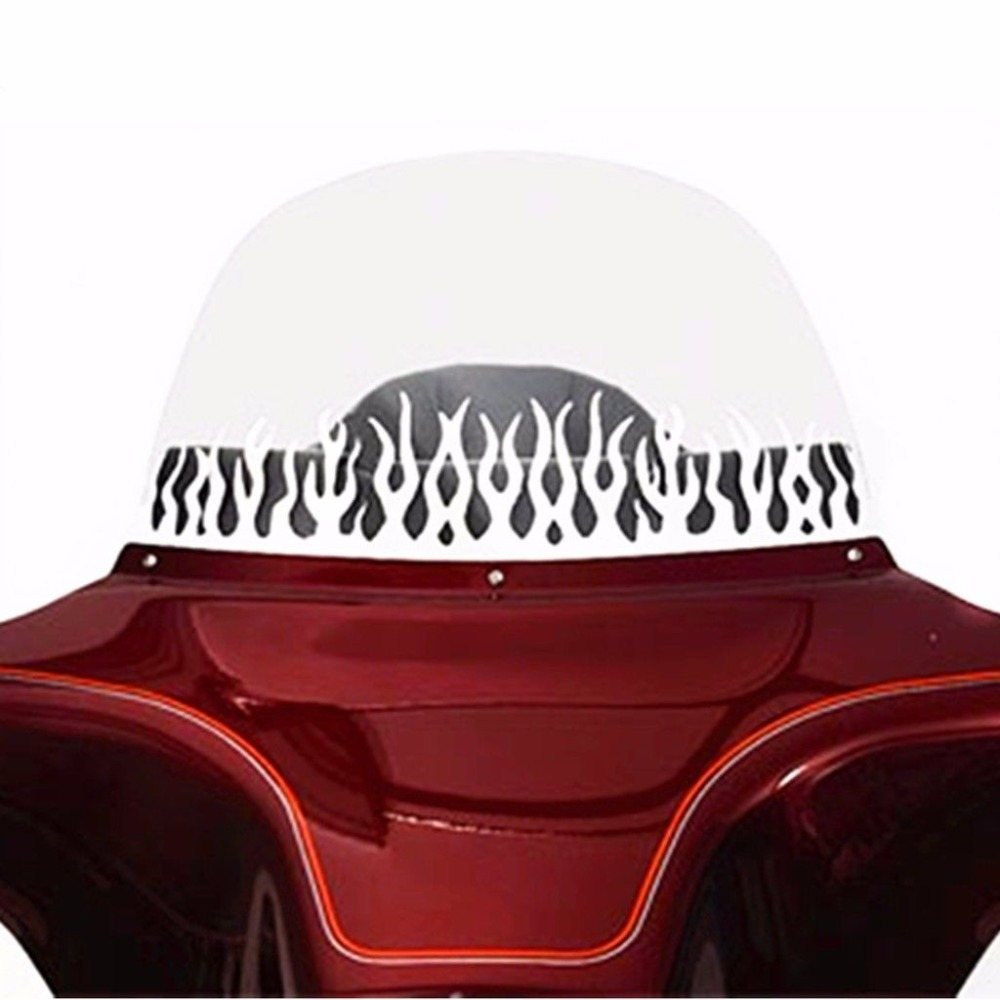 Freeshipping Batwing Fairing Windscreen WINDSHIELD TRIM For 1996-2013 HARLEY Electra Street Tri Glide FL TOURING BAGGER MODELS areyourshop windshield bag saddle 3 pouch pocket fairing for harley touring bike 1996 2015 black motorcycle covers