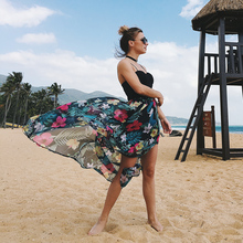 Latest Design Women Sleeveless Summer Beach Chiffon Dress