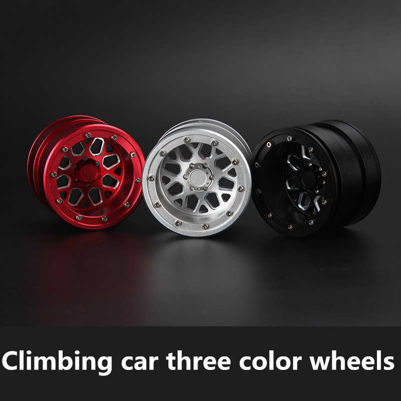 One PCS D1RC Simulation Climbing Car Aluminum Alloy Metal Wheel For Ghost SCX10 TRX-4 2.2-inch KM2 Generation