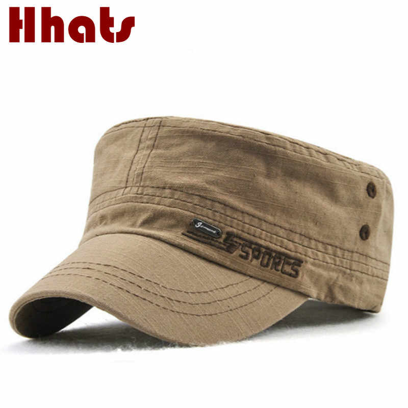 1b9ed47959f Flat Male Hat Adjustable Cotton Men Military Hat Spring Autumn Army Cap  Vintage Baseball Cap Winter