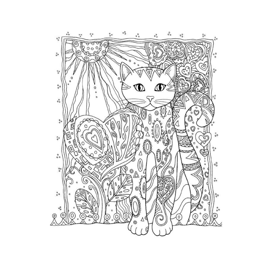 Kreatif Kucing buku mewarnai antistress untuk orang dewasa Menghilangkan Stres seni Lukisan Menggambar Graffiti buku mewarnai di Buku dari Kantor