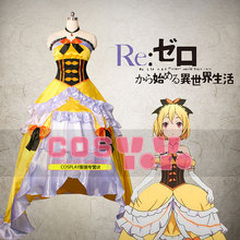Re Zero kara Hajimeru Isekai Seikatsu Felt Long Dress Cosplay Costume Custom Made Free Shipping