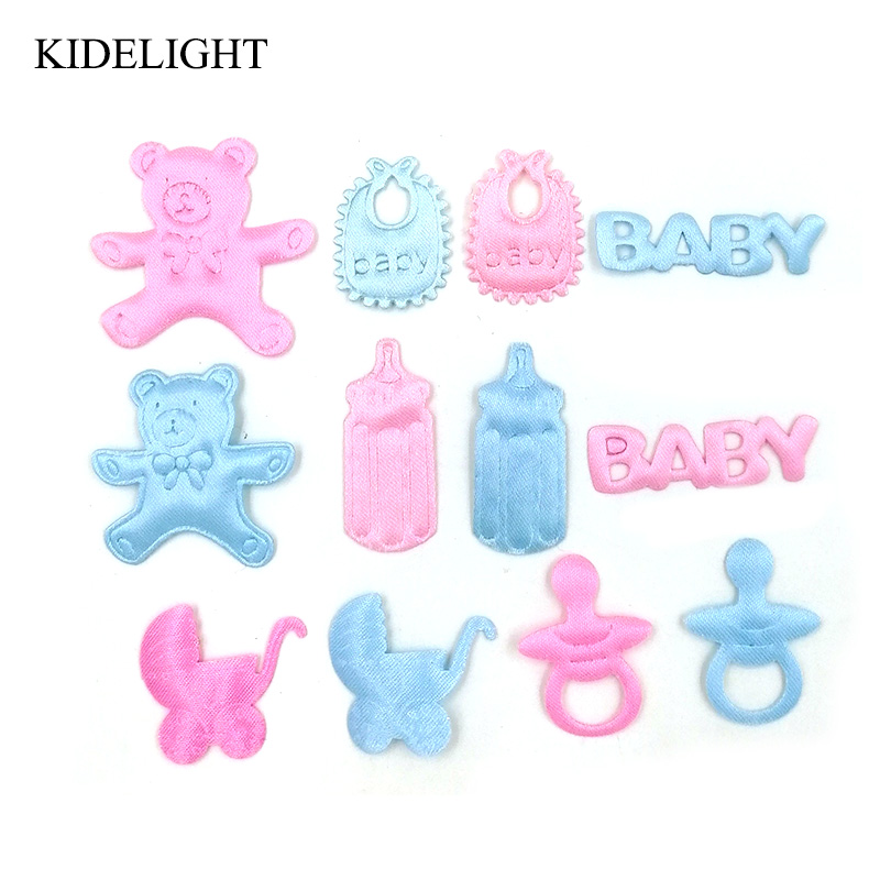 50PCS Baby shower girl boy favor party decoration candy box accessory scrapbook embellishment diy craft baptism gift christening