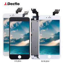 For iPhone 6 6 Plus 6s 6s Plus LCD Display Touch Screen Digitizer+Home Button+Front Camera+Ear Speaker Full Assembly Replacement цена в Москве и Питере