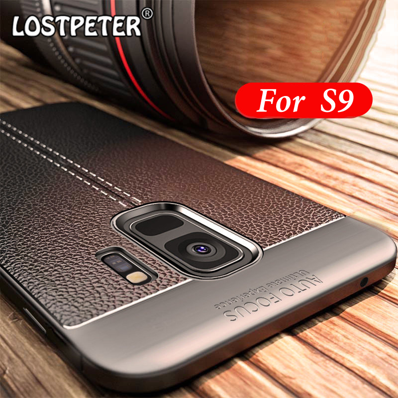 Full cover for samsung galaxy S9 case soft TPU Leather Design ultra thin luxury cases For samsung galaxy S9 plus case protector