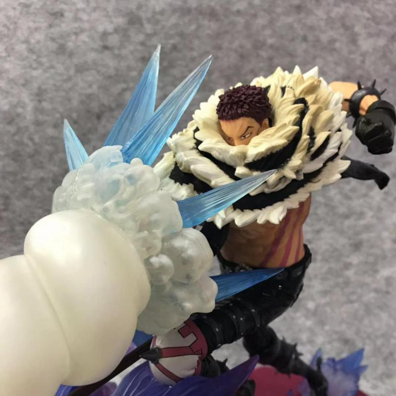 <font><b>One</b></font> <font><b>Piece</b></font> Charlotte <font><b>Katakuri</b></font> 2 Action <font><b>Figures</b></font> Dessert three star Model Toys 21cm image