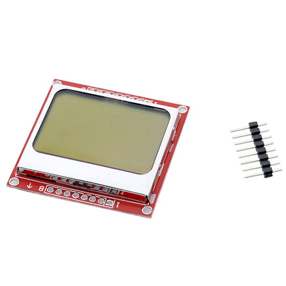 Smart Electronics LCD Module Display Monitor White backlight adapter PCB 84*48 84x84 Nokia 5110 Screen for Arduino 1