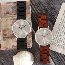 BOBO BIRD Mens Watchs CeO15-O16 Quartz Design Wooden Strap Luxury Silver Dial Watch for Men